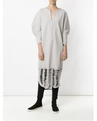 Gloria Coelho - Gray Cut Out Details Midi Dress - Lyst