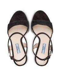 Prada Black Slingback Sandals
