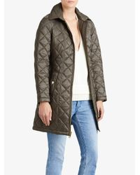 Burberry - Gray Quilted Showerproof Parka - Lyst