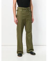 Di Liborio - Green Wide-leg Long Trousers for Men - Lyst
