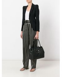 Etro - Black Striped Straight Trousers - Lyst