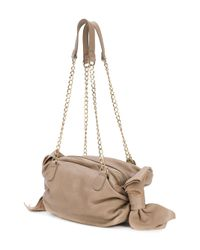 RED Valentino - Natural Bow Detailed Shoulder Bag - Lyst