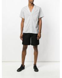 Christian Pellizzari - White Striped Baseball Shirt for Men - Lyst