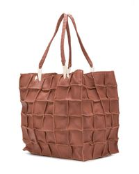 Jamin Puech - Brown Square Print Tote Bag - Lyst