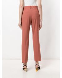 Theory - Pink Straight Leg Tailored Trousers - Lyst