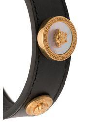 Versace - Black Medusa Cuff Bracelet - Lyst