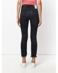 3x1 - Gray Straight Crop Jeans - Lyst