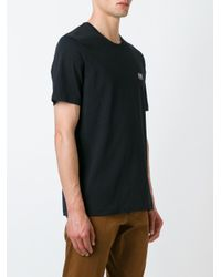 AMI - Black Crew Neck T-shirt for Men - Lyst