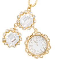 Dolce & Gabbana - Metallic Clock Pendant Necklace - Lyst