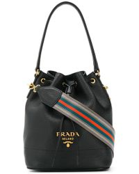 1da8180f0852 Lyst - Prada Classic Bucket Bag in Black