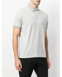 Loro Piana - Gray Short Sleeved Polo Shirt for Men - Lyst