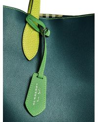 Burberry - Green Medium Two-tone Tote - Lyst