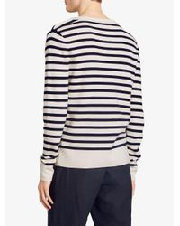 Burberry - White Breton Stripes Sweater for Men - Lyst