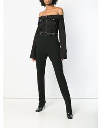 David Koma - Black High Waisted Slim-fit Trousers - Lyst