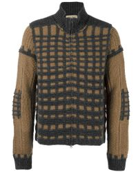 Al Duca D'aosta - Multicolor Check Knit Cardigan for Men - Lyst