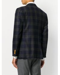 Kiton - Blue Checked Blazer for Men - Lyst