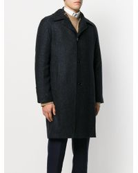 Tagliatore - Blue Classic Fitted Coat for Men - Lyst