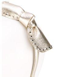 RED Valentino - Metallic Studded Bow Headband - Lyst
