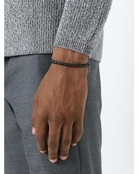 Bottega Veneta - Black Interlaced Bracelet for Men - Lyst