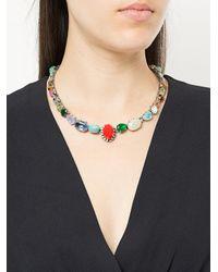 Rada' - Metallic Multicoloured Stone Necklace - Lyst
