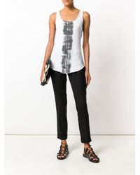 Thom Krom White Printed Tank Top