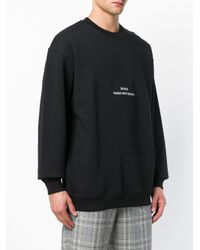 MSGM - Black ' Times New Roman' Sweatshirt for Men - Lyst