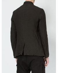 Individual Sentiments - Black - Mandarin Collar Jacket - Men - Cotton/linen/flax - 1 for Men - Lyst