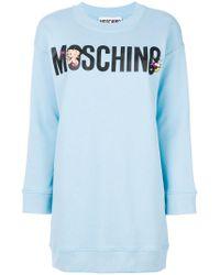 Moschino - Blue Betty Boop Sweatshirt Dress - Lyst