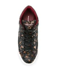 Philippe Model - Metallic Embellished Lace Up Sneakers - Lyst