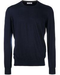 Brunello Cucinelli - Blue Crew Neck Pullover for Men - Lyst
