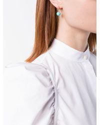 David Yurman - Blue 18kt Yellow Gold Solari Turquoise Drop Hoop Earrings - Lyst