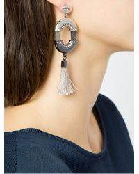 Camila Klein - Metallic 'conceito' Tassel Earrings - Lyst