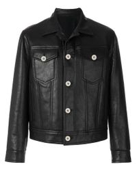 Neil Barrett Black Leather Jacket for men