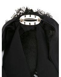 Martha Medeiros - Black Embellished Brooch - Lyst