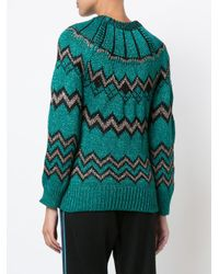 Nude - Green Metallic Zig Zag Jumper - Lyst