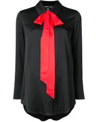 Thomas Wylde - Black Contrast Pussy Bow Detailed Shirt - Lyst