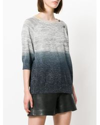 Zadig & Voltaire - Gray Ombre Cropped Sweater - Lyst