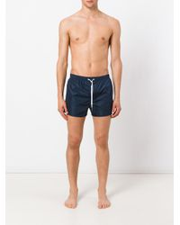 DSquared² - Blue Classic Logo Swims Shorts for Men - Lyst