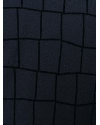 Giorgio Armani - Blue Checked Sweater for Men - Lyst
