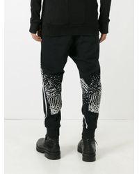 Boris Bidjan Saberi 11 - Black Stripe Patterns Sweatpants for Men - Lyst