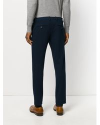 Paolo Pecora - Blue Straight-leg Trousers for Men - Lyst
