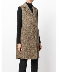 Lardini - Brown Long Line Gilet - Lyst