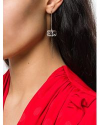 Gucci - Metallic Square G Cube Earring - Lyst