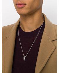 Shaun Leane - Multicolor 'Arc' Silberhalskette for Men - Lyst