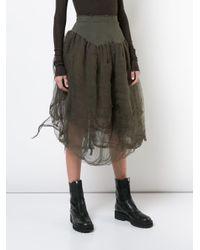 Marc Le Bihan - Green High-waisted Tulle Skirt - Lyst