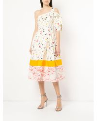 Carolina Herrera - White Splash Print Cocktail Dress - Lyst