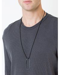 Julius - Black Cut Out Dog Tag Necklace for Men - Lyst