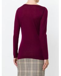 N.Peal Cashmere - Purple Superfine Round Neck Sweater - Lyst