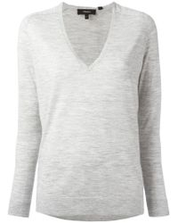 Theory | Gray V-neck Jumper | Lyst