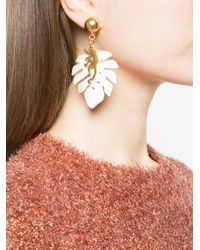 Oscar de la Renta - Metallic Small Jungle Horn Earrings - Lyst